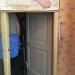 Secret door of the secret hiding part of the house