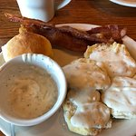 Country Biscuits and Gravy and Bacon
