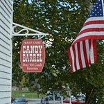 Candy Barrel Sign