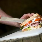 Fresh food prepared from local ingredients. Cotswold Farm Park.