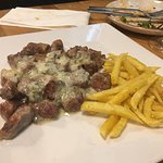 Lagarto iberico con gorgonzola