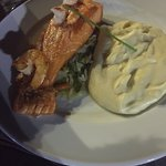 Salmon and shrimp main