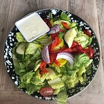 Extremely fresh salad with crisp lettuce
