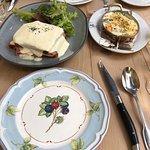 Lunch at Casanova - gnocchi and croque-monsieur