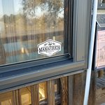Manafirkin stickers appear all over the world like this one in Murrells Inlet SC