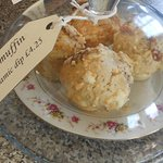 Tasty focaccia muffins in the Tea Room