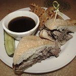 SUGAR RAY'S - SLOW-ROASTED CERTIFIED ANGUS BEEF BRISKET TOPPED WITH MELTED PROVOLONE CHEESE ON A
