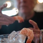 Shrimp Cocktail with the largest shrimp I a have seen in years.