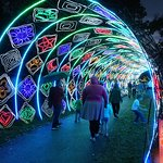 Amazing tunnel of lights