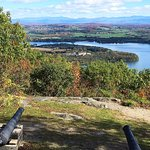 From Mt. Defiance looking East into Vermont.