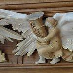 Modern angel carvings