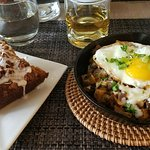 Fall Skillet with pumpkin cake