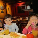 The grandchildren loved the banana Leaf atmosphere!