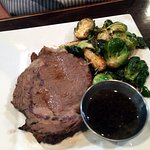 12 oz Prime Rib with brussels sprouts
