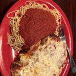 Huge delicious Chicken Parmigiana