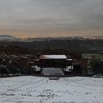 Red Rock Amphitheater covered in fresh powder!