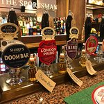 Great pub. And excellent beer and food selection  16HD screens and table service during big game