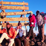 At Uhuru Peak 5895m. Mt Kilimanjaro