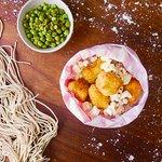 Popcorn Chicken & Wasabi Peas