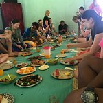 lunch with the villagers