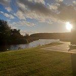 Sunset walk dwn the pond