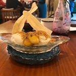 sobremesa de banana com sorvete