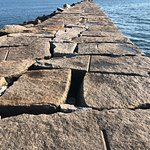 the granite breakwater slabs