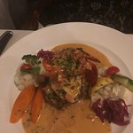 5 oz. Filet of Beef with Lobster, Tomato Tarragon Sauce