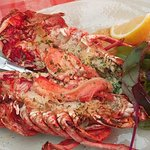 Lobster with garlic butter, delicious!
