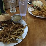 Our food. Ringer Burger and Chicken burger