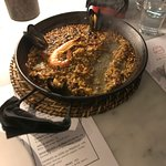 paella, couldn't wait for the photo...