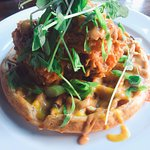 Merchant Ale House chicken and waffle