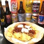 Pulled Pork Nachos and Craft Beer
