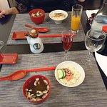 Salade de choux et soupe miso
