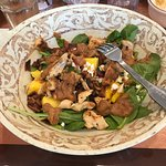 Spinach, Bacon, Mango salad