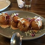 Savory Beignets are better than the sweet imo especially when it is stuffed with blue crab.