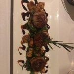 Grilled sea scallops and fresh gnocchi.