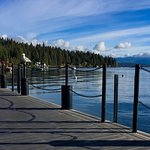 Morning View From The Dock (at Sunnyside) Of Lake Tahoe (and seagull upon the post!)