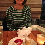 Donna's amazing almond cake was ... amazing.