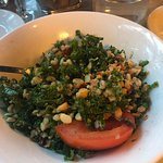 kale salad with apricot and grains - one of my favorites