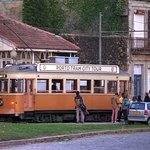 The tram at its terminus