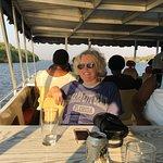 Mrs M enjoying the Sunset Cruise