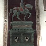 Monument to John Hawkwood by Uccello, inside church