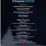 Christmas Lunch Menu 2018