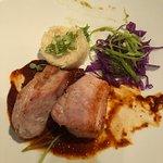 Pork loin with Coloradito