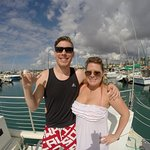 Honeymoon couple diving with us
