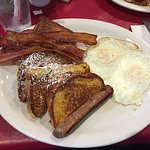 #3 with french toast, bacon, sausage and eggs!