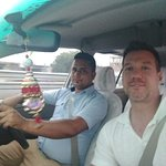 My excellent, safe Trinetra driver, Rajeev and I, Great memories!