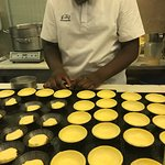 Top rated dessert in Lisbon. Nothing like a good Pasteis de Nata and the finished product won't