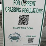 Sign where you measure your crabs